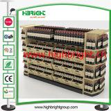Mesa de promoção de supermercado de madeira sólida para doces e nozes
