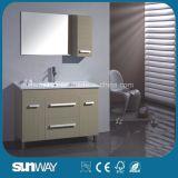 Vanité debout de salle de bains de mélamine d'étage avec le bassin