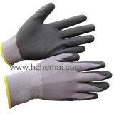 guante ultra fino de nylon del trabajo del nitrilo de la Micro-Espuma de los guantes del Spandex 15g