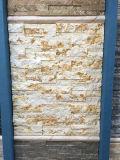 Горячий бежевый мраморный внешний Fieldstone для украшения стены