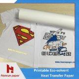 Tamanho solvente escuro/claro Printable do rolo do papel/vinil de transferência térmica de Eco para o algodão/vestuário/Sportswear
