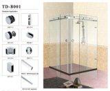 Стеклянная одиночная польза оборудования B008 раздвижной двери для ванной комнаты