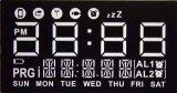Дисплей с плоским экраном Customeried LCD с белыми этапами черноты предпосылки
