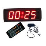 2.3 pollici 4 cifre LED Orologio digitale, Rosso Colore del carattere, supporta la funzione orologio regolare (con display a 12/24 ore a disposizione) e il conto alla rovescia / su la funzione in minuti