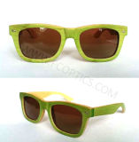 Классический Бамбук и Деревянные солнцезащитные очки в поляризованном объектива
