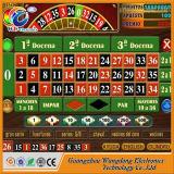 Máquina de juego electrónica de la ruleta del casino estupendo español del hombre rico