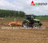 Земледелие грейдера сельскохозяйственного угодья установленное трактором выравнивая машину