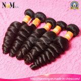 黒い遊離体の波の波状の加工されていない卸し売り未加工ブラジルの毛の織り方の束