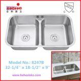 新しいデザイン8247ステンレス鋼の流し、台所の流し、洗浄流し