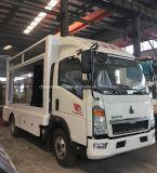HOWO 6の車輪の屋外の可動装置のLED表示トラック手段を広告する5つのT