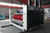 Automatische Farben-gewölbtes Karton Flexo Drucken der Geschwindigkeit-4, das stempelschneidene Maschine kerbt