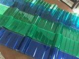 la fábrica de 0.6m m China dirige 840 930 1050 policarbonatos acanalados cubriendo la hoja para el invernadero y la vertiente de la cría