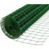 Rete metallica saldata ricoperta vinile verde all'ingrosso della maglia 25X25mm della Cina