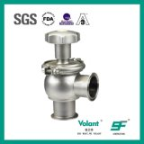 Tipo manual higiénico válvula de la bola del acero inoxidable de control de presión inferior