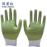 Белые Nylon перчатки работы при покрынная ладонь PU