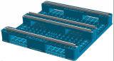 Pálete plástica resistente do HDPE euro- com câmaras de ar de aço