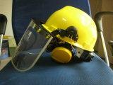 Volles Gesichts-Sicherheits-Schablone mit Arbeits-Sturzhelm und Ohrenschützer-Sets