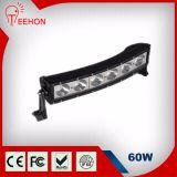 60W curvo fuori dalla barra chiara della strada LED per SUV/Jeep/Truck/TUV