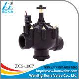 3 vanne électromagnétique en nylon d'irrigation de pouce 220VAC (ZCS-100P)