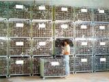 Jaula plegable del almacenaje del acoplamiento de alambre