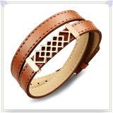 De Armband van het Leer van de Juwelen van de Manier van de Armband van het roestvrij staal (LB266)