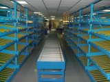 Armazém de armazenamento de fluxo da caixa através de cremalheira