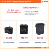 Батарея AGM верхнего качества 6V150ah с 3 летами гарантированности CS6-150