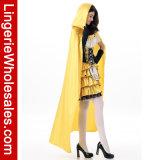 긴 판초를 가진 최신 판매 여자의 Halloween Goldilocks 공상 복장 복장