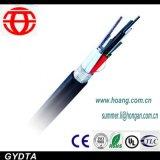 Câble fibre optique en aluminium enduit en plastique de bande