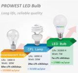 Price安いE27 B22 5W 7W 9W 12W LEDのエネルギーセービングBulbs
