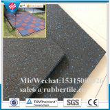 Azulejo de suelo de goma del suelo de los deportes de suelo del azulejo de goma al aire libre de goma de goma de los azulejos