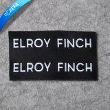 Etiqueta tecida Ecofriendly da roupa da etiqueta do vestuário