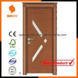 Turks Glass pvc van de kwaliteit Wooden Door met Certificate (sw-A001)
