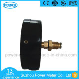manometro nero ad alta pressione di prezzi di fabbrica del piatto di manopola di 100mm