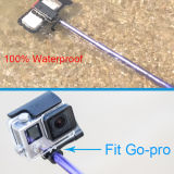 携帯電話が付いているアルミニウム防水Selfieの棒の三脚キットそして防水袋