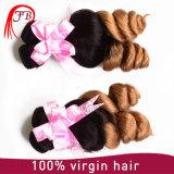 O tom frouxo Ombre da onda dois coloriu pacotes do Weave do cabelo