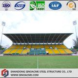 Светлая стальная структура полиняла для стадиона