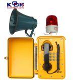 Telefone à prova de intempéries falador mais alto Telecom Knsp-08L da transmissão
