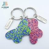 Il mestiere di Jiabo ha progettato la farfalla colorata smalto molle Keychain del metallo
