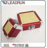 Aluminiumwerkzeugkasten-Aluminiumablagekasten-Laufkatze-Arbeitsweg-Gepäck-tragen kosmetische Verfassungs-Fall-Schmucksache-Speicher-Uhr Kasten (YS118)