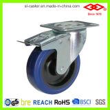 roda industrial de borracha elástica azul do rodízio de 200mm (D102-23D200X50)
