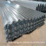 Feuille ondulée galvanisée de toiture de zinc