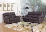 Sofa de Recliner de maison et de bureau de cuir de lien de couleur de Brown foncé