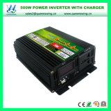 Maison outre d'inverseur d'alimentation AC de C.C du système solaire 500W de réseau avec le chargeur (QW-M500WUPS)