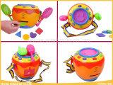Cilindro musical dos brinquedos do sorriso dos brinquedos do bebê para bebês