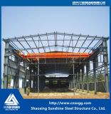Almacén prefabricado de la estructura de acero con la talla de Custimized