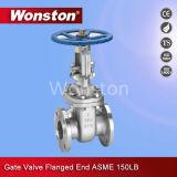 Válvula de porta ASME da extremidade da flange 150lbs