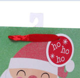 Мешки подарка Santa Claus мешка рождества подарка бумажные с полным яркием блеском
