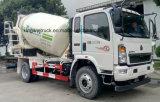 HOWO Light Truck met Concrete Mixer Drum voor 3-5m3