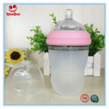 Frasco de alimentação ultra largo 220ml do bebê do silicone da garganta